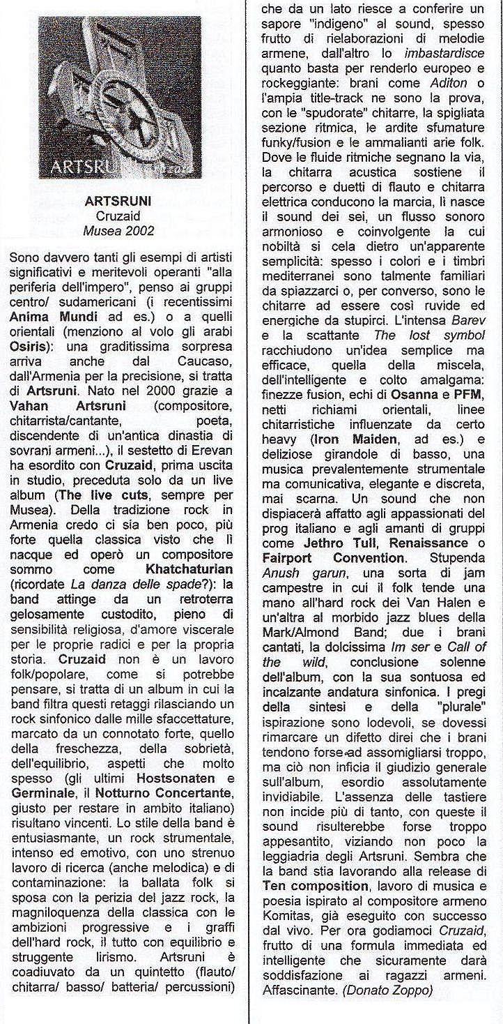 Artsruni Trespass 1 gennaio 2003