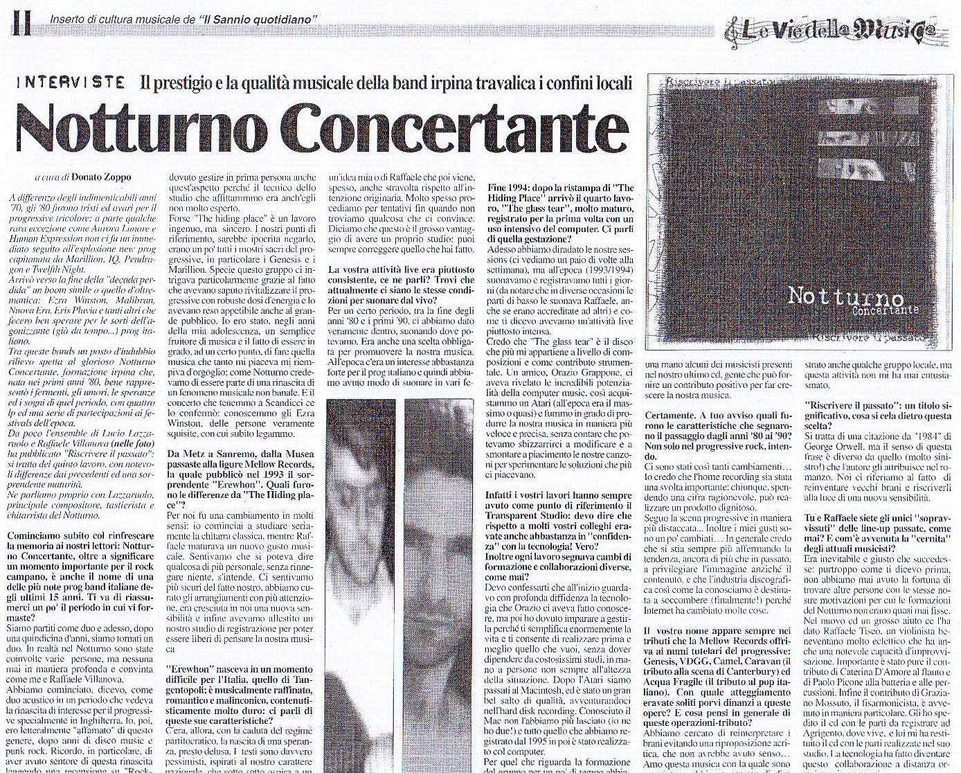 Vie della musica 31 gennaio 2003
