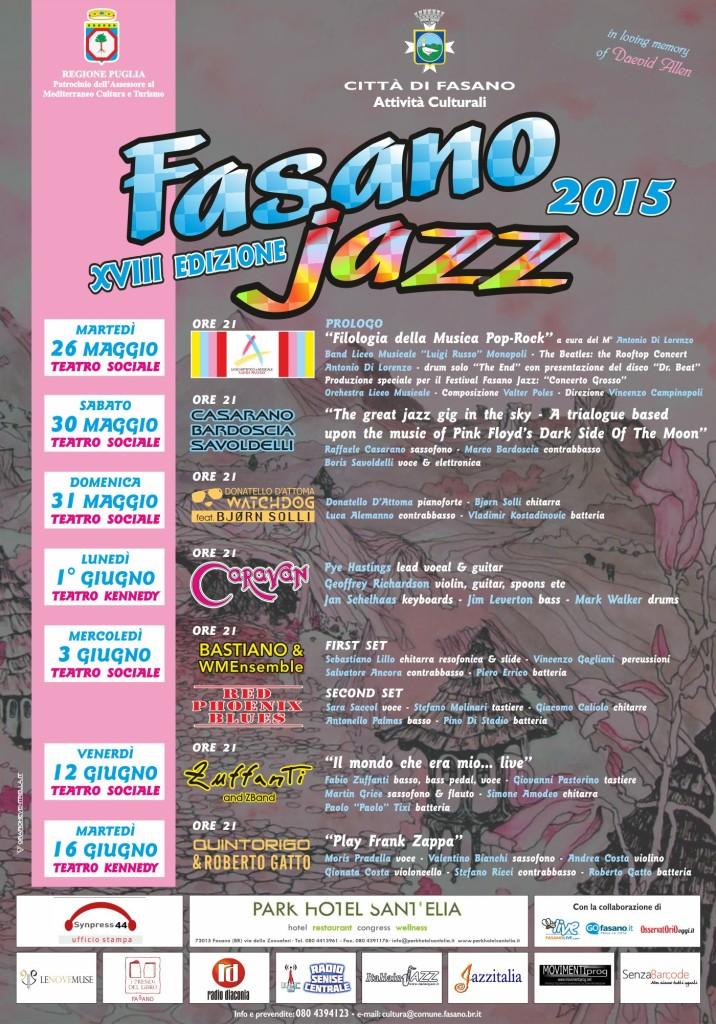 Fasano Jazz 2015 locandina